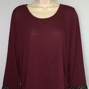 Elle Brown Shirt For Women Size Large